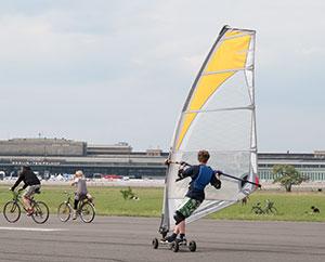 Surfen, Fahrrad fahren, Scaten - alles ist möglich.