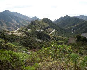 Anagagebirge: Südseite Richtung St. Andrés