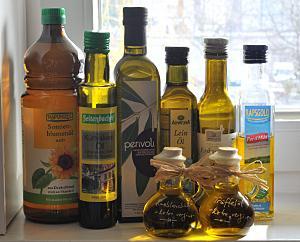verschiedene Küchen-Öle
