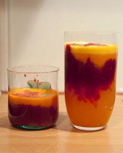 Apfelsine-Apfel-Möhre-Rote-Beete-Smoothie
