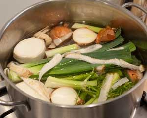 Herstellung Gemüsefond