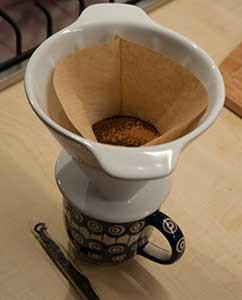 Filterkaffee mit ein paar Gramm Zimt