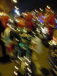 Weihnachtliche Motorrad-Parade in Berlin