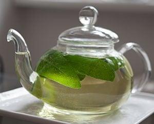Salbei-Tee aus frischen Salbei-Blättern