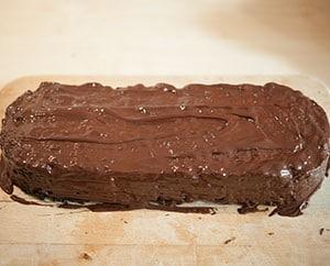Früchtebrot mit Schokoladenüberzug
