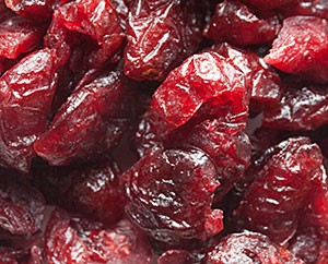 Getrocknete, gezuckerte Cranberries