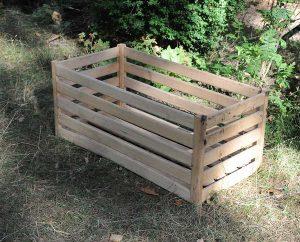 Holzkasten oder Einkaufsplastik-Kästen eignen sich