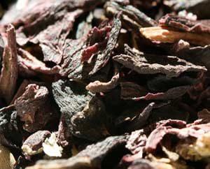 Getrockneter Hibiskus-Blüten-Tee