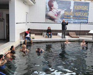 Becken mit Kangal-Fischen