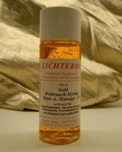Gold-Weihrauch-Myrrhe-Öl