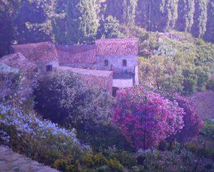 Hausanlage mit Oleander